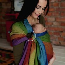 Little Frog- Ring Sling Dark rainbow aura 2m