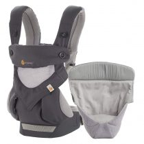 Ergobaby – 360 Cool air mesh Carbon grey sa Easy Snug umetkom
