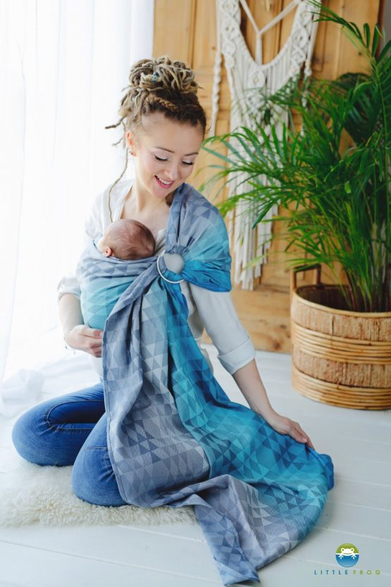 Little Frog- Ring Sling Navy Illusion 1,7m